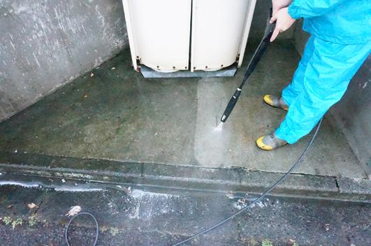 高圧洗浄,町田市,駐車場