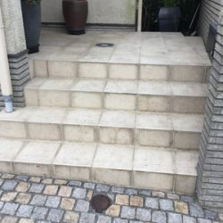 玄関タイル,掃除,高圧洗浄,横浜市