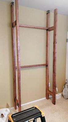 突っ張り棚,壁面,DIY